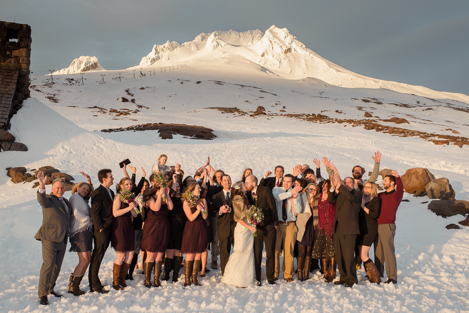 silcox hut mount hood wedding