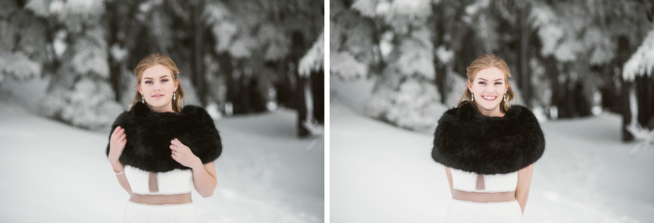 Intimate winter wedding at timberline lodge on mt. hood