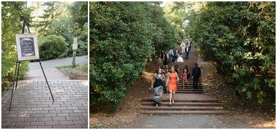 A destination wedding in laurelhurst park, portland, oregon.