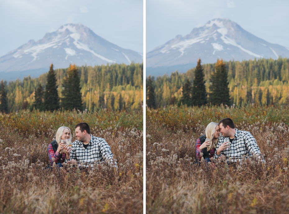019 mt hood sunset engagement photography