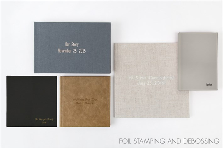 Foil stamping and debossing