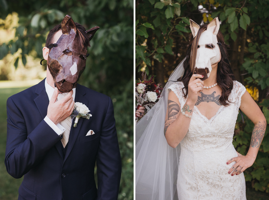 079 mount hood organic farms wedding with masks