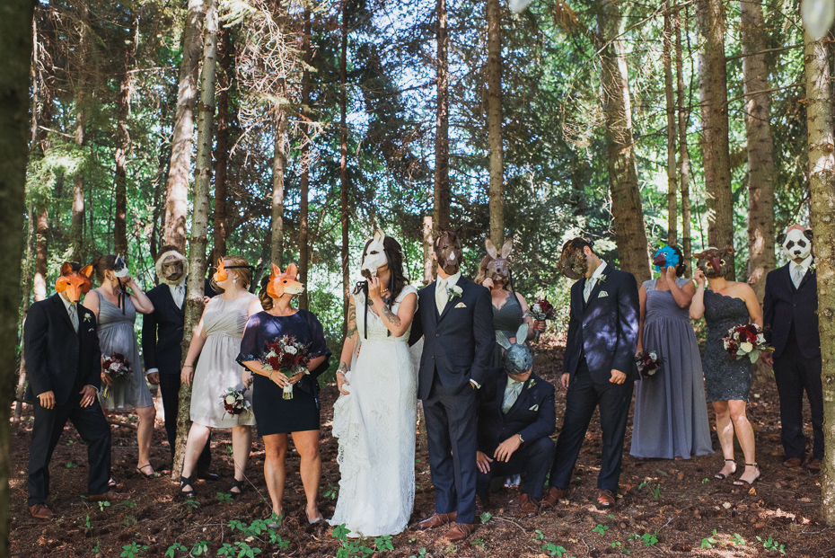 088 mount hood organic farms wedding with masks