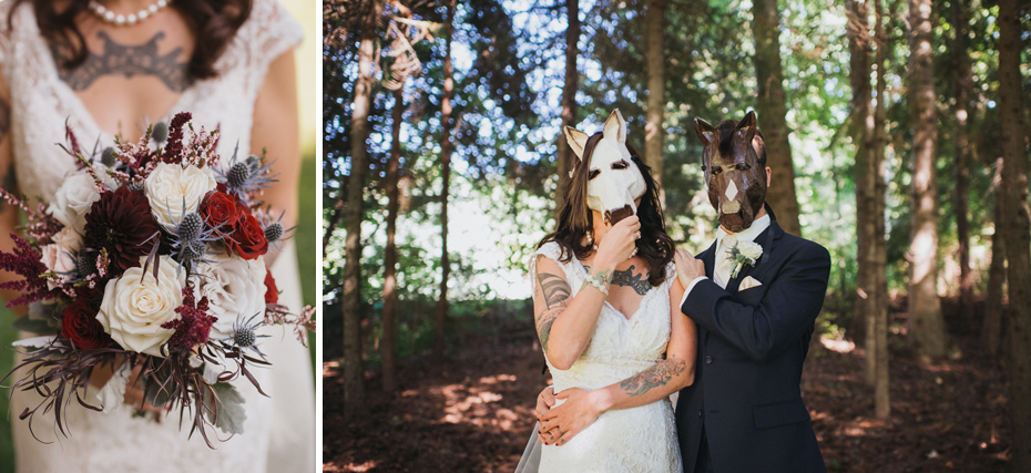 089 mount hood organic farms wedding with masks