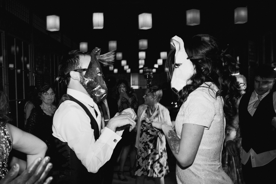 176 mount hood organic farms wedding with masks